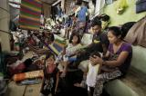 Life in makeshift shelters for displaced people in Mindanao