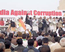 An anti-corruption protest in New Delhi