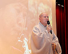 Venerable Jaseung at the screening of the film 'Don't Cry, Tonj'