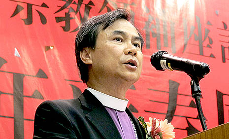 Lutheran Bishop Nicholas Tai, chairperson of the Hong Kong Christian Council, urges honest business practice