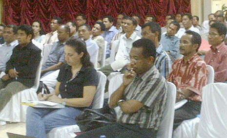 Participants at yesterday's workshop in Dili