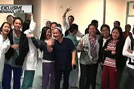 Libyans praise Filipino medical workers