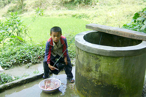 A well sponsored by Caritas in Da Nang diocese