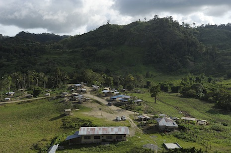 The camp that will grow into a township for workers on the site of the Tampakan gold and copper project <i>Photograph ©Michael Coyne</i>