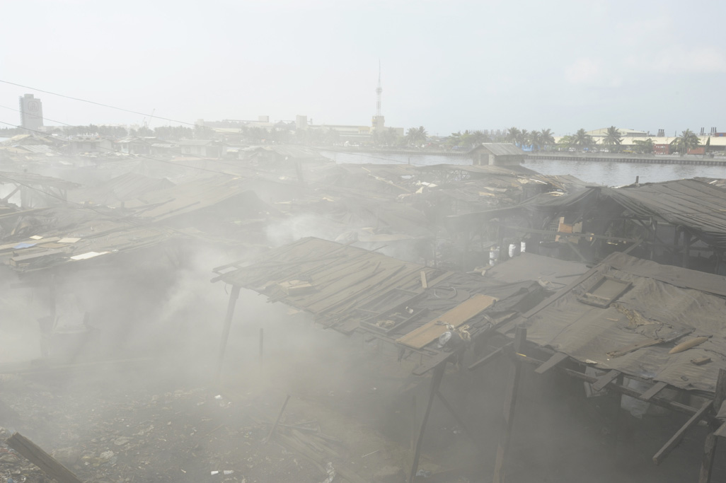 Ulingen on Manila Bay where making charcoal is the only means to a livelihood