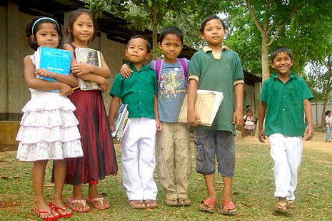 Tribal children learn in own language