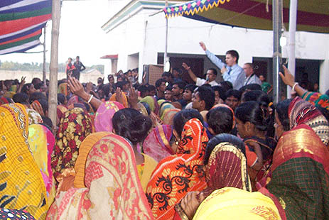 People attend miraculous healing prayer service at Baradal parish of southwestern Khulna diocese