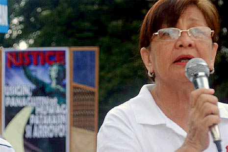 Edita Burgos, mother of missing activist Jonas Burgos (Courtesy of Desaparacidos)