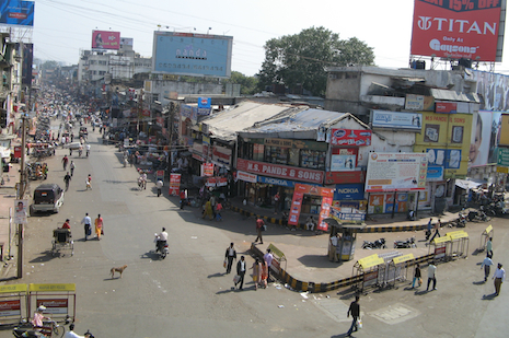 Sitabuldi market in Nagpur. Identities of the girls must be protected for fear the traffickers will seize them again