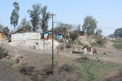 A village threatened by the proposed mine