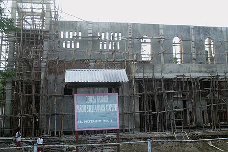 Reconstruction of Stella Maris church