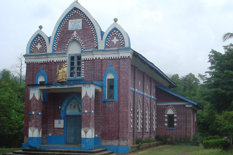 The church in Mongping town where Father Clement Visnara is buried