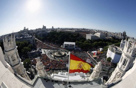 An image from the World Youth Day in Madrid