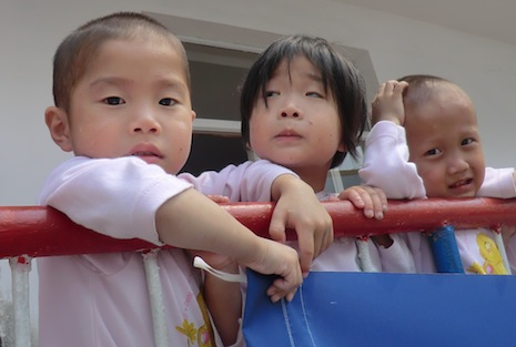 Children from a district outside Pyongyang, where Sant'Egidio last month delivered food aid to North Korea (Photo courtesy of Sant'Egidio)