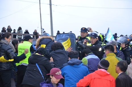Activists and police have clashed several times at the site