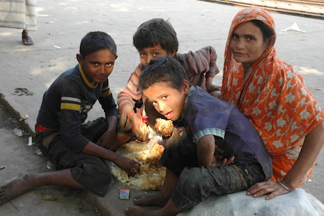 Millions in Bangladesh feel fortunate if they eat two meals in a day (photo: Chandan Robert Rebeiro)