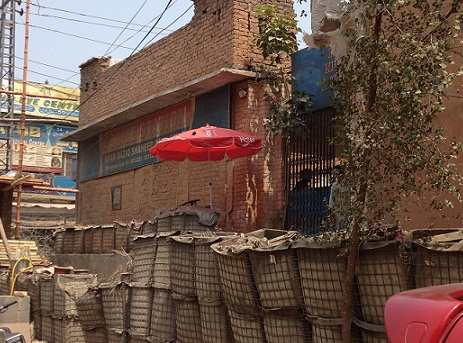 A heavily guarded police station in Peshawar