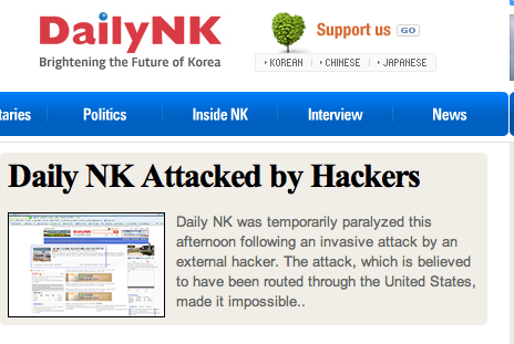 Free N Korea news sites crash
