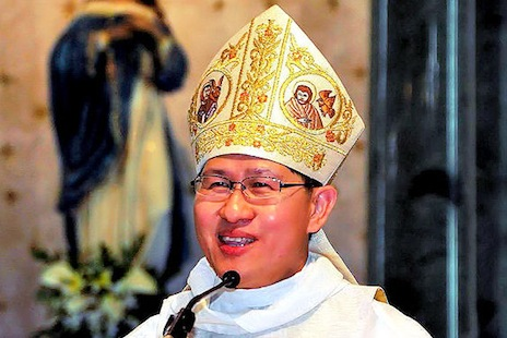 What did Pope Francis say when he ran into Cardinal Tagle?