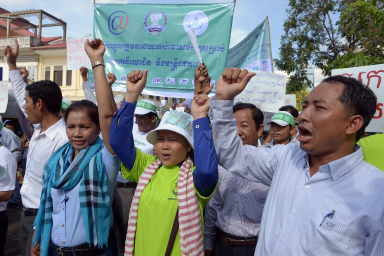 Cambodia's workers flex their muscles