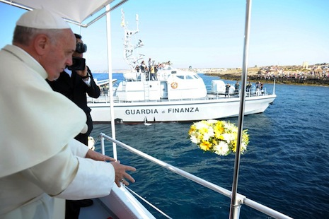Pope lambasts global indifference to migrants' fate
