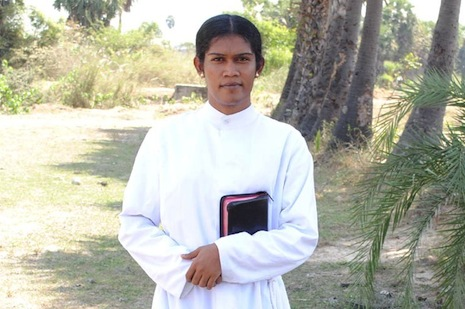 <p>Pastor Bharathi's faith&nbsp;has helped her overcome many social stigmas</p>