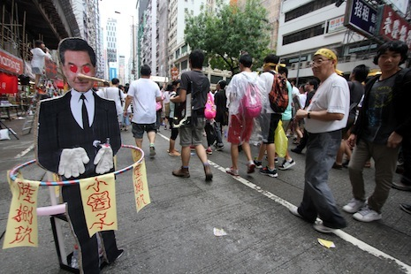 <p>A major rally for universal suffrage swarmed the streets of Hong Kong earlier this month</p>