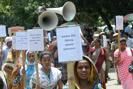 <p>Kandhamal riot victims rally in Bhubaneswar</p>