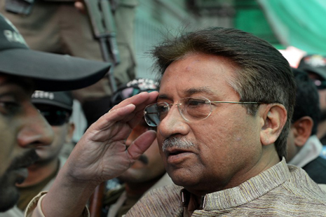 <p>Pervez Musharraf arrives at court in April 2013 (Aamir Qureshi / AFP)</p>
