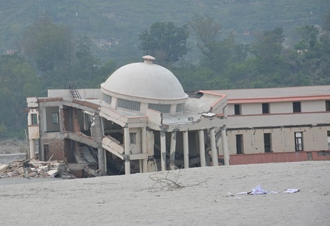 <p>An army base in Uttarakhand destroyed by flash floods</p>