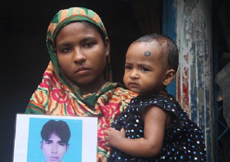 <p>Morium Bibi has been struggling to survive since the Rana Plaza textile complex collapse</p>