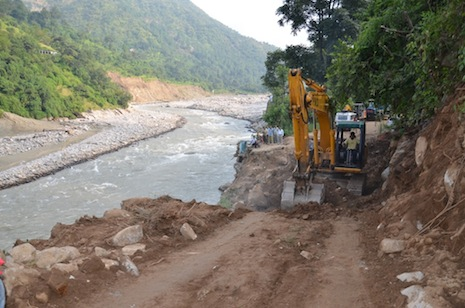 <p>New tracks are being prepared to enable pilgrims to trek to the temple</p>