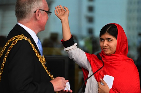 Malala and whistleblower Snowden may win rights award