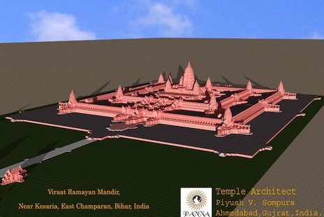 Model unveiled of world's largest religious monument