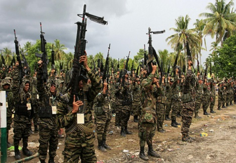 <p>MILF rebels in Mindanao (Photo by Mark Navales)</p>