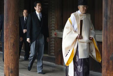 Japan's PM angers China by visiting war shrine