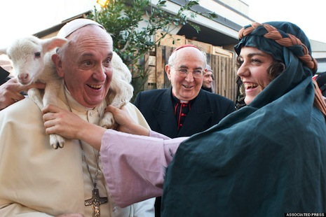 Pope Francis plays the Good Shepherd's role to perfection