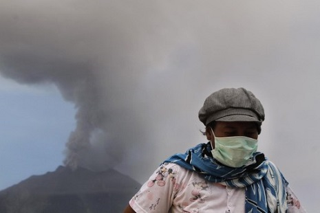 <p>Mount Sinabung lay dormant for 400 years before erupting again in 2010 (picture: AFP Photo/Ade Sinuhaji)</p>