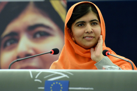 <p>Malala&nbsp;Yousufzai's book launch in Pakistan was cancelled (Patrick Hertzog/AFP)</p>