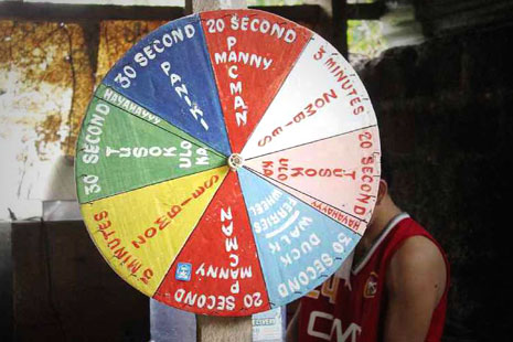 <p>The 'wheel of torture' discovered in a police station in Laguna, Philippines (Photo courtesey of CHR)</p>