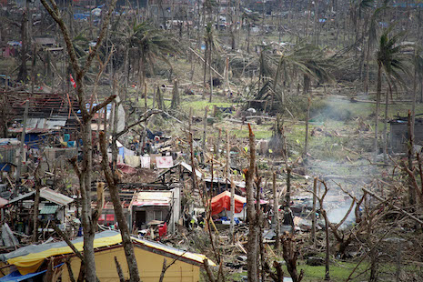 <p>Villages start to rise from the devastation in the province of Samar (Photo by Vincent Go)</p>