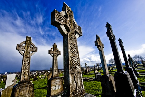 <p>Irish Celtic crosses (picture: <a href=&quot;http://www.shutterstock.com/pic-31610110/stock-photo-old-cemetery-on-belfast-crosses.html?src=Ia3aL0eYgjWmx7Hp8eTGrA-1-8&quot; target=&quot;_blank&quot;>Shutterstock</a>)</p>