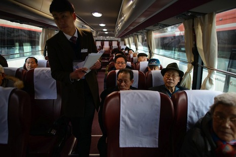 South Koreans head north for bittersweet family reunions