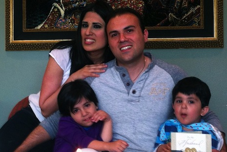 <p>Pastor Saeed Abedini at home in the US with his wife and children. Picture: AFP Photo/American Center for Law and Justice</p>