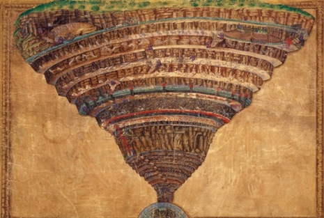 <p>An illustration from Dante's Divine Comedy by Sandro Botticelli (photo by CNS/Courtesy of the Vatican Library)</p>