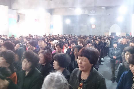 <p>Inside Sanjiang church. Picture: Washington Post</p>