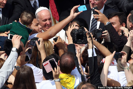 Once again, Pope Francis does it his way