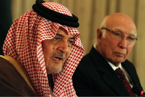 <p><span class=&quot;Apple-style-span&quot;>Saudi Foreign Minister Prince Saud al-Faisal with Sartaj Aziz, Pakistan adviser on foreign affairs (picture: Christian Science Monitor/AP)</span></p>