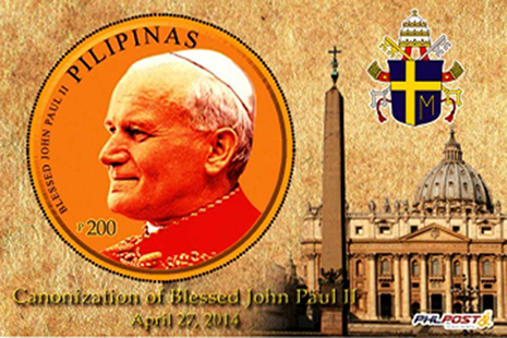 Philippines issues stamps to mark popes' canonization