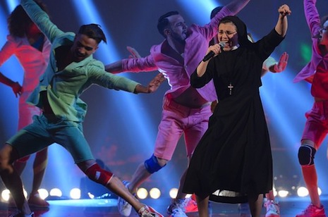 Singing nun wins final of Italy's top TV talent show